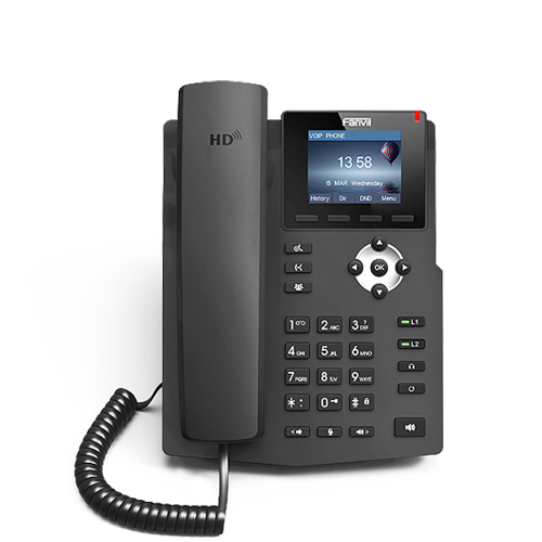 Fanvil 2SIP Gigabit Colour PoE VoIP Phone | X3G